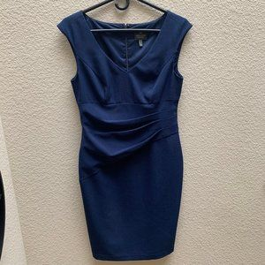 Adrianna Papell Navy Blue Cocktail Dress